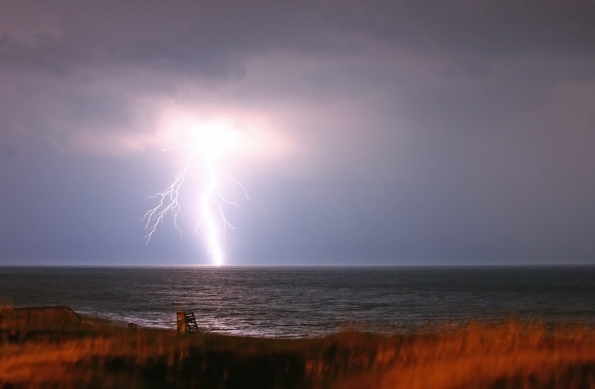 Barry Steven Greff Photography, Outer Banks, North Carolina, Lightning, Nature, Seascapes